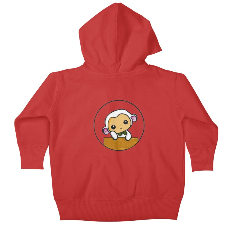 Lambie Thinking Kids Baby Zip-Up Hoody by Dino & Panda Inc Artist Shop