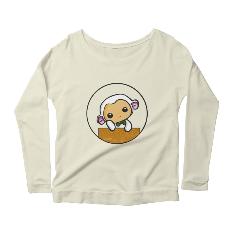 Lambie Thinking Women's Scoop Neck Longsleeve T-Shirt by Dino & Panda Inc Artist Shop