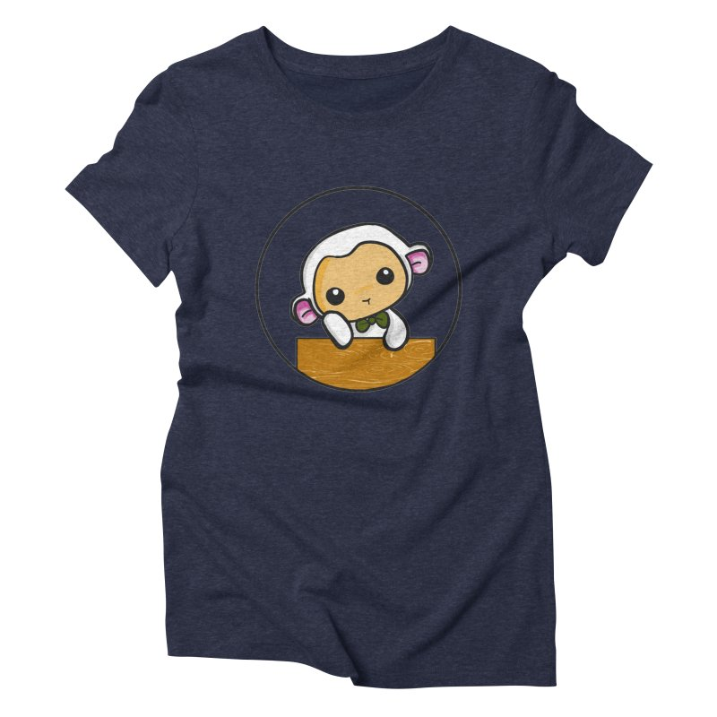 Lambie Thinking Women's Triblend T-Shirt by Dino & Panda Inc Artist Shop