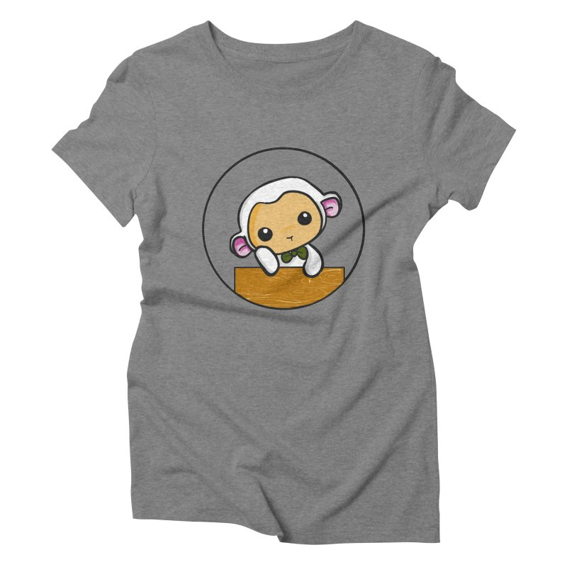 Lambie Thinking Women's Triblend T-Shirt by Dino & Panda Inc Artist Shop