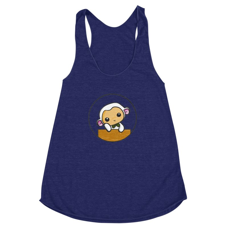 Lambie Thinking Women's Racerback Triblend Tank by Dino & Panda Inc Artist Shop