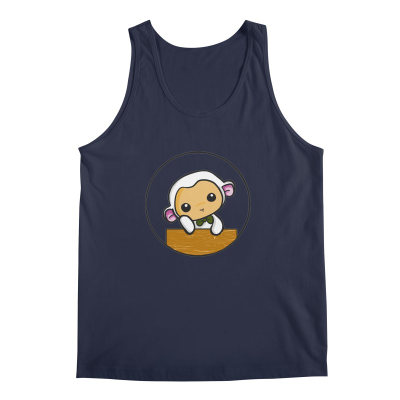 Lambie Thinking Men's Regular Tank by Dino & Panda Inc Artist Shop
