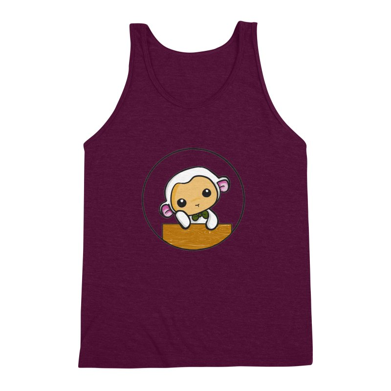 Lambie Thinking Men's Triblend Tank by Dino & Panda Inc Artist Shop