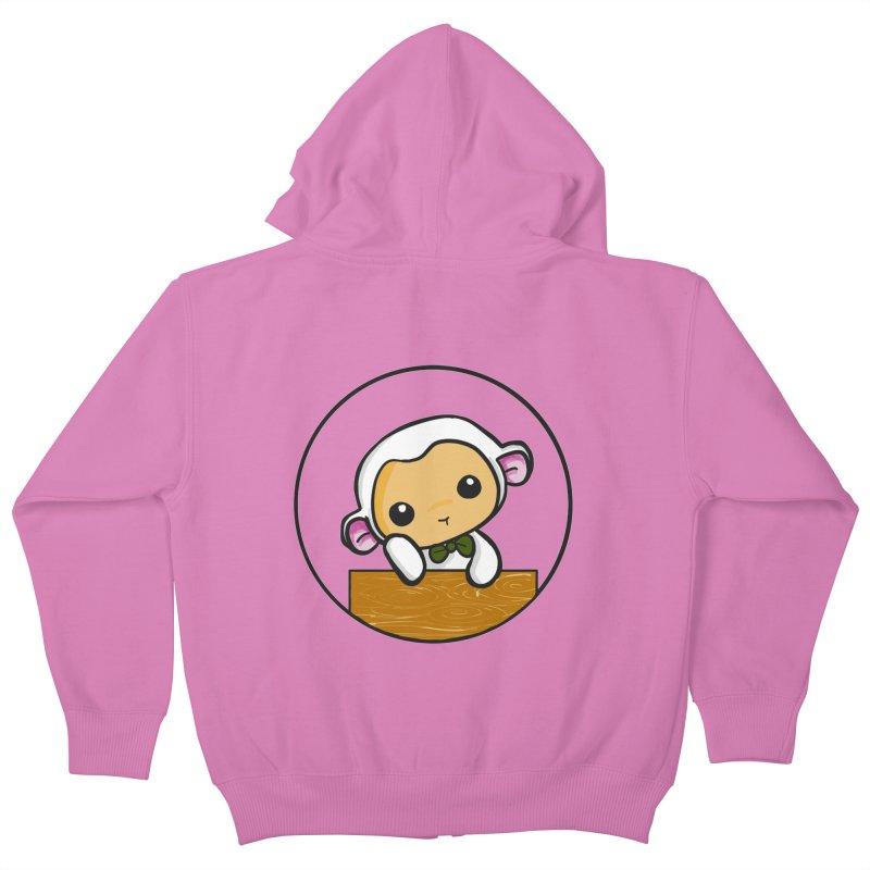 Lambie Thinking Kids Zip-Up Hoody by Dino & Panda Inc Artist Shop