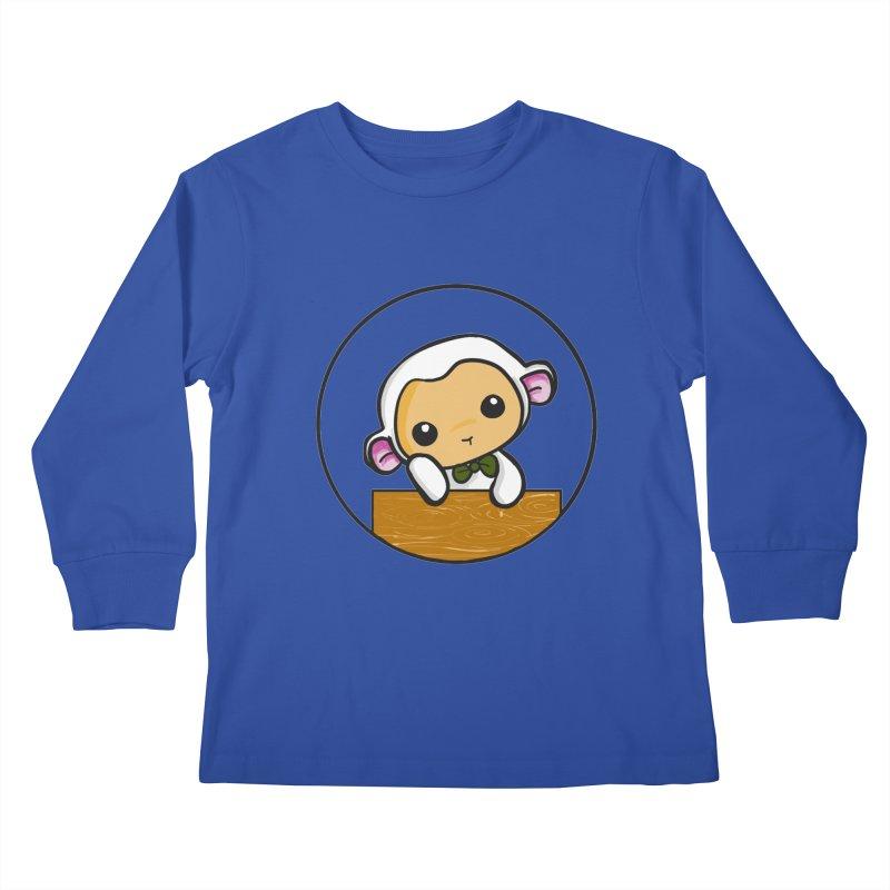 Lambie Thinking Kids Longsleeve T-Shirt by Dino & Panda Inc Artist Shop