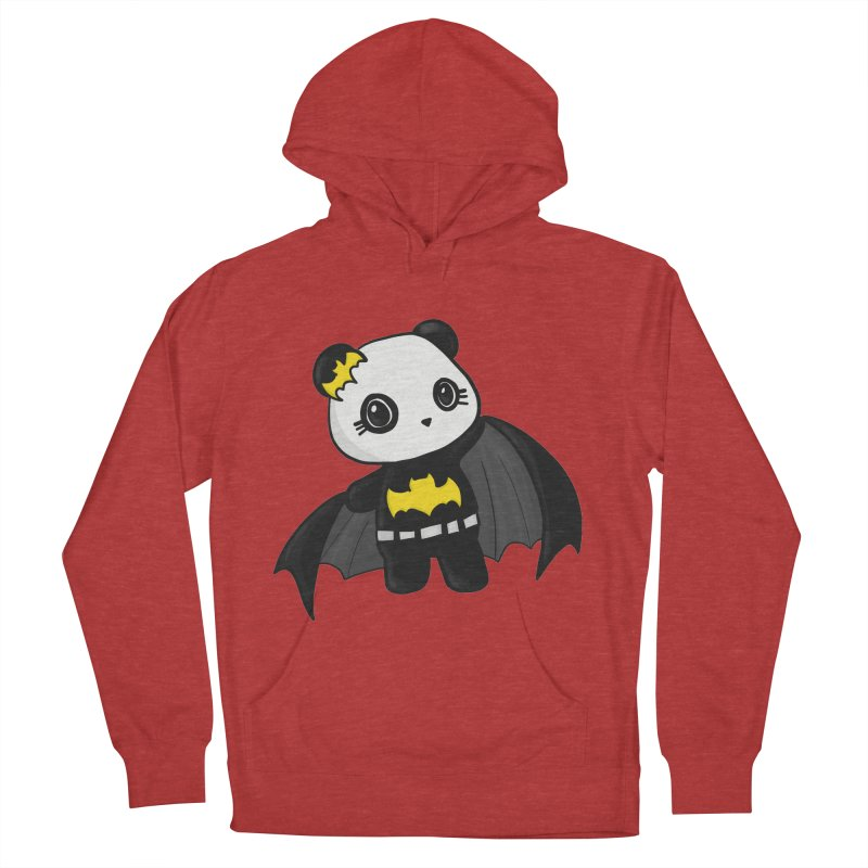 Batpanda Women's French Terry Pullover Hoody by Dino & Panda Inc Artist Shop