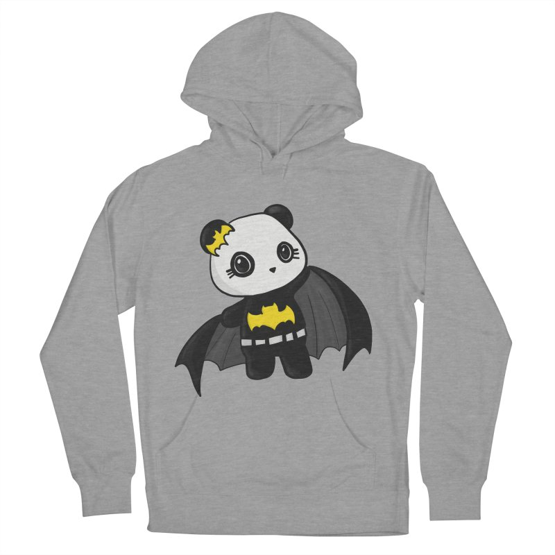 Batpanda Men's French Terry Pullover Hoody by Dino & Panda Inc Artist Shop