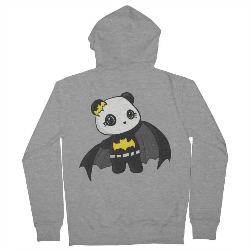 Batpanda Women's French Terry Zip-Up Hoody by Dino & Panda Inc Artist Shop