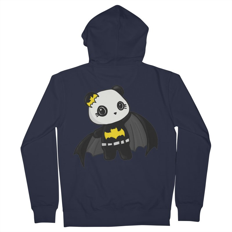 Batpanda Women's French Terry Zip-Up Hoody by Dino & Panda Inc Artist Shop