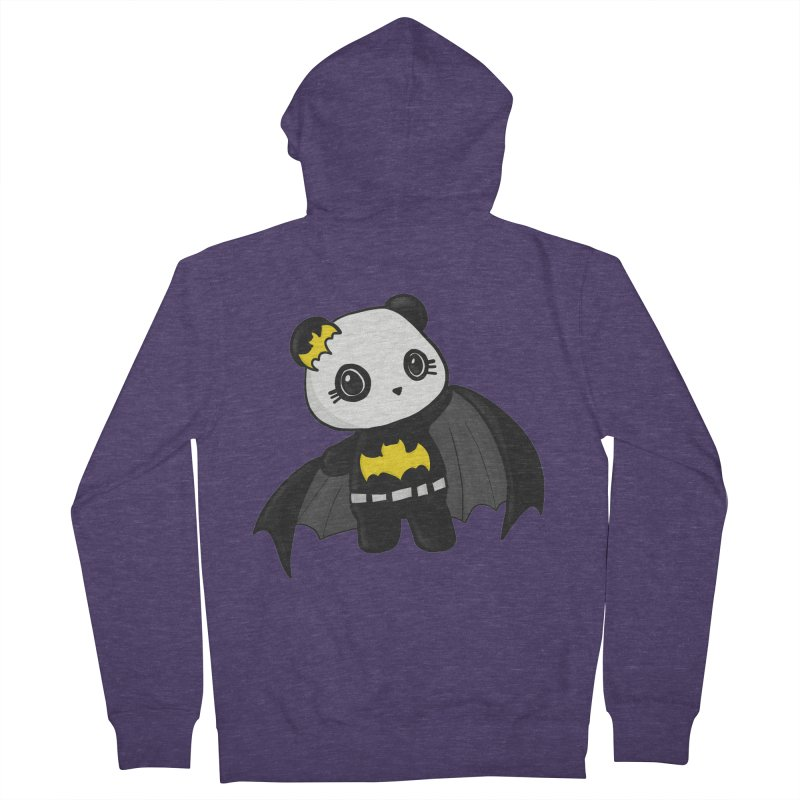 Batpanda Men's French Terry Zip-Up Hoody by Dino & Panda Inc Artist Shop