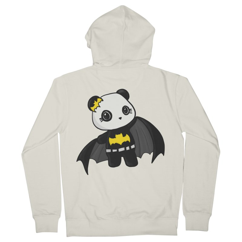 Batpanda Men's French Terry Zip-Up Hoody by Dino & Panda Inc Artist Shop