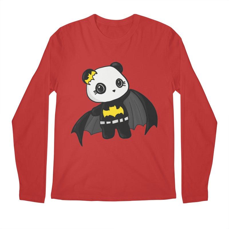 Batpanda Men's Regular Longsleeve T-Shirt by Dino & Panda Inc Artist Shop
