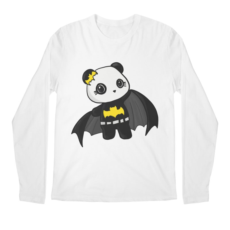 Batpanda Men's Regular Longsleeve T-Shirt by Dino & Panda Inc Artist Shop