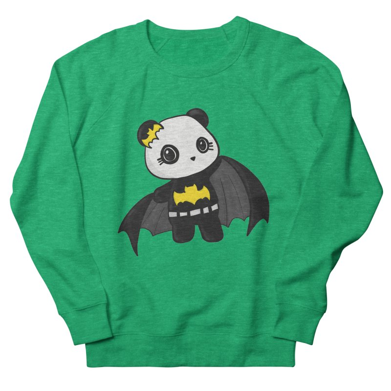 Batpanda Women's French Terry Sweatshirt by Dino & Panda Inc Artist Shop