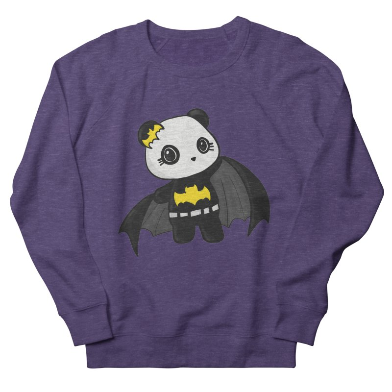 Batpanda Men's French Terry Sweatshirt by Dino & Panda Inc Artist Shop