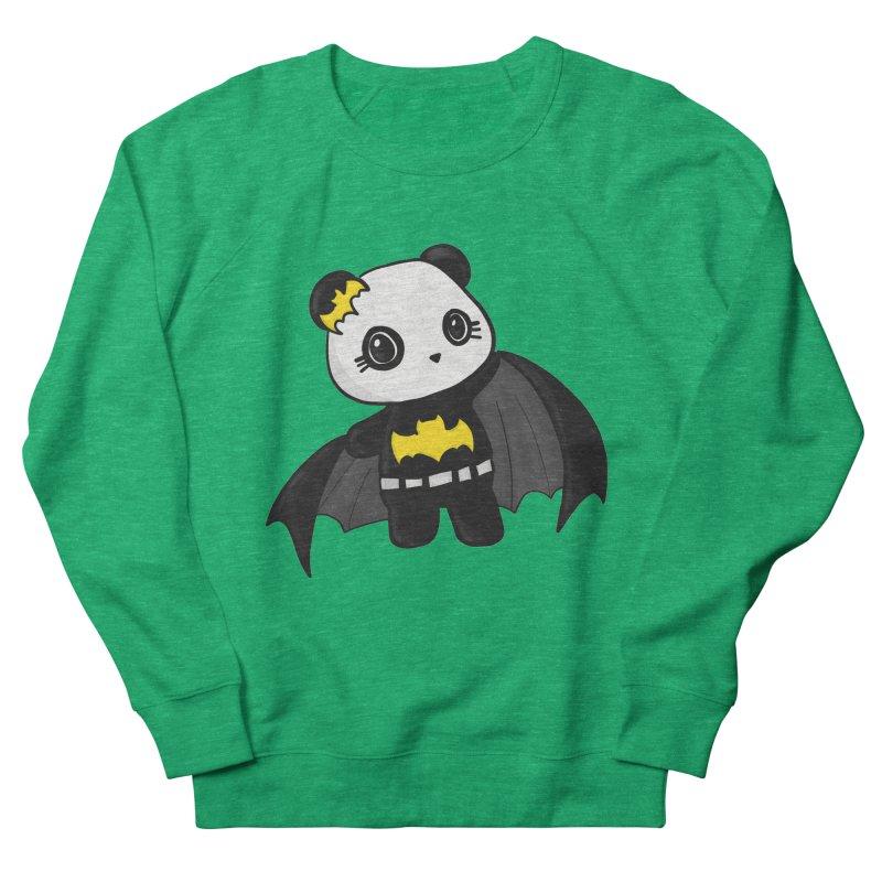 Batpanda Men's French Terry Sweatshirt by Dino & Panda Inc Artist Shop