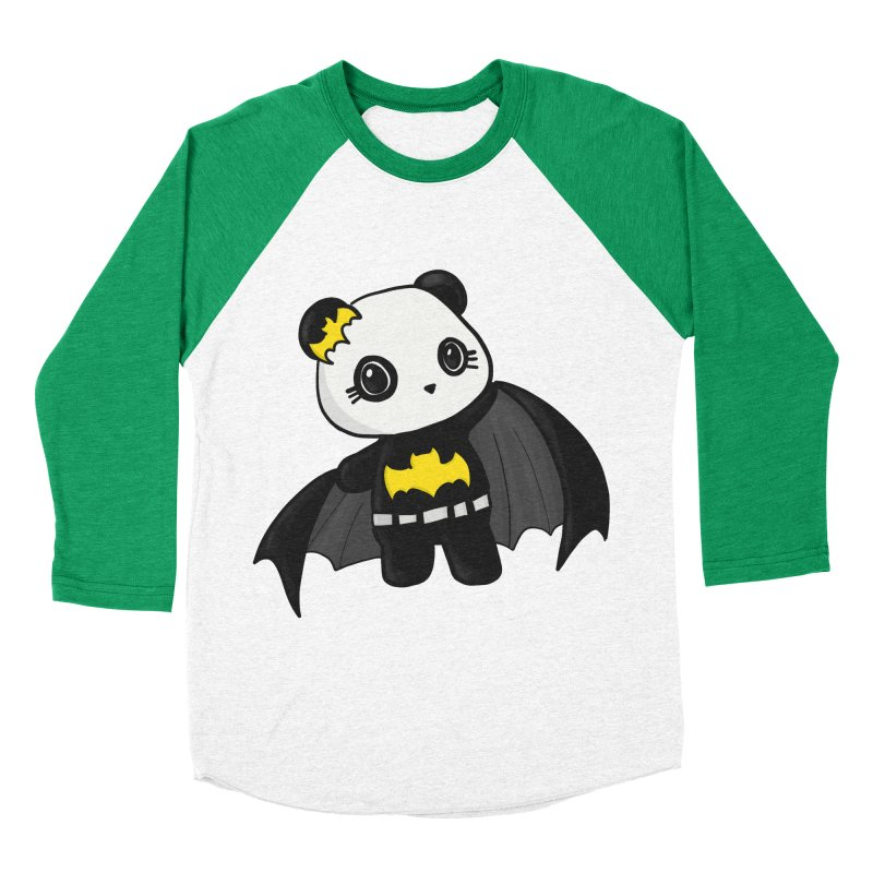 Batpanda Women's Baseball Triblend Longsleeve T-Shirt by Dino & Panda Inc Artist Shop