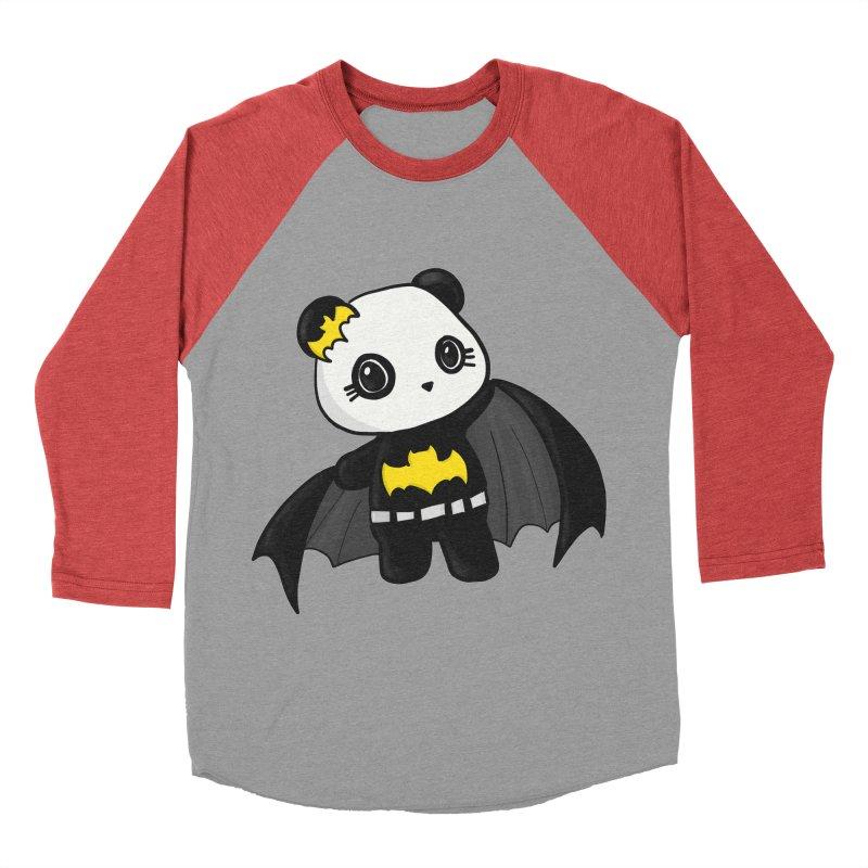 Batpanda Women's Baseball Triblend T-Shirt by Dino & Panda Inc Artist Shop