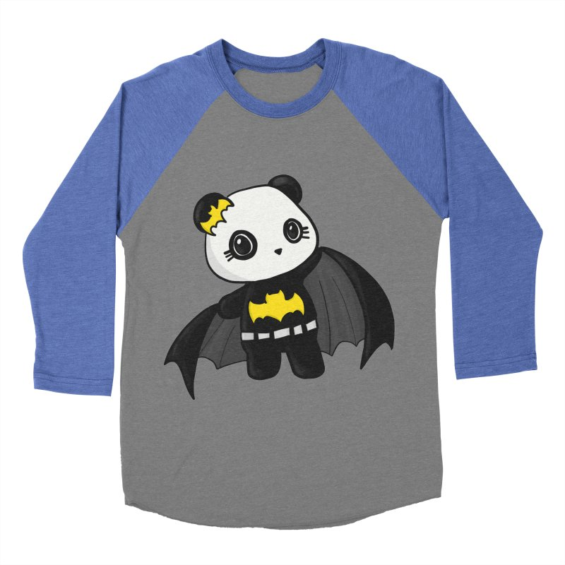 Batpanda Men's Baseball Triblend Longsleeve T-Shirt by Dino & Panda Inc Artist Shop