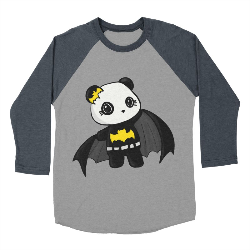 Batpanda Men's Baseball Triblend Longsleeve T-Shirt by Dino & Panda Inc Artist Shop