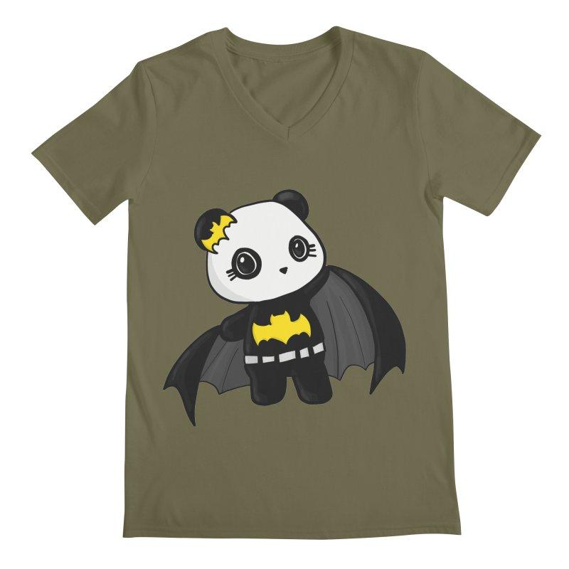Batpanda Men's Regular V-Neck by Dino & Panda Inc Artist Shop