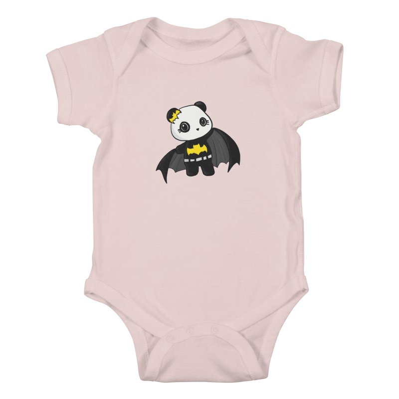 Batpanda Kids Baby Bodysuit by Dino & Panda Inc Artist Shop