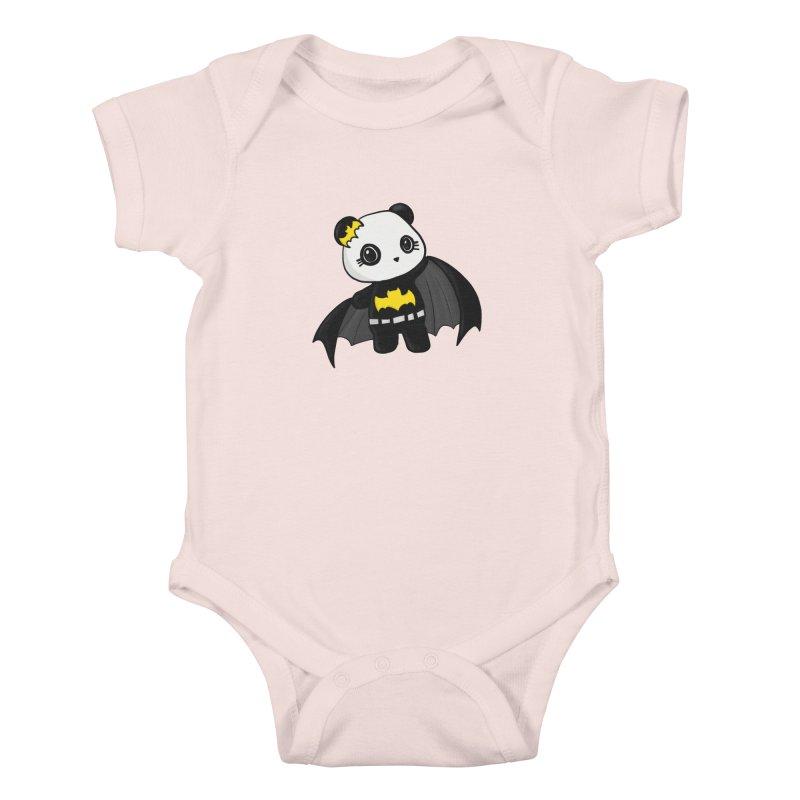 Batpanda Kids Baby Bodysuit by Dino & Panda Inc Artist Shop