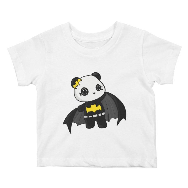 Batpanda Kids Baby T-Shirt by Dino & Panda Inc Artist Shop