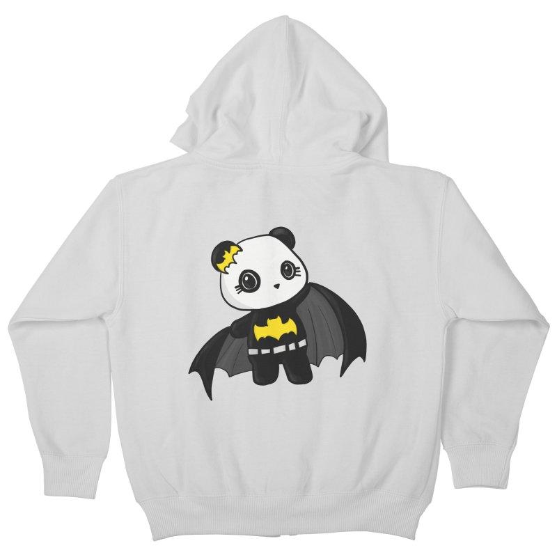 Batpanda Kids Zip-Up Hoody by Dino & Panda Inc Artist Shop