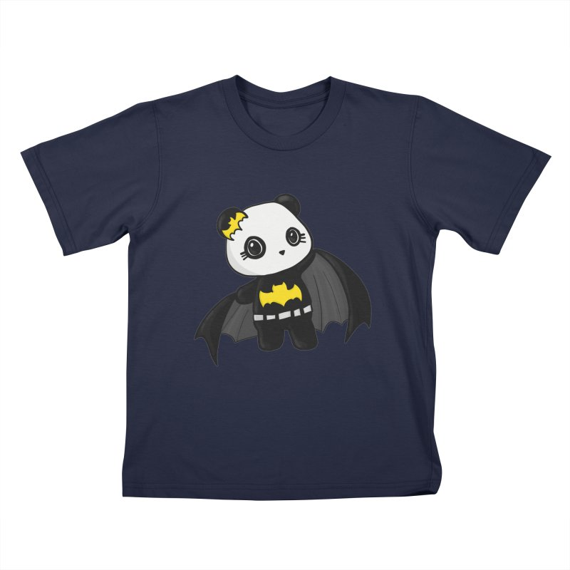 Batpanda Kids T-Shirt by Dino & Panda Inc Artist Shop