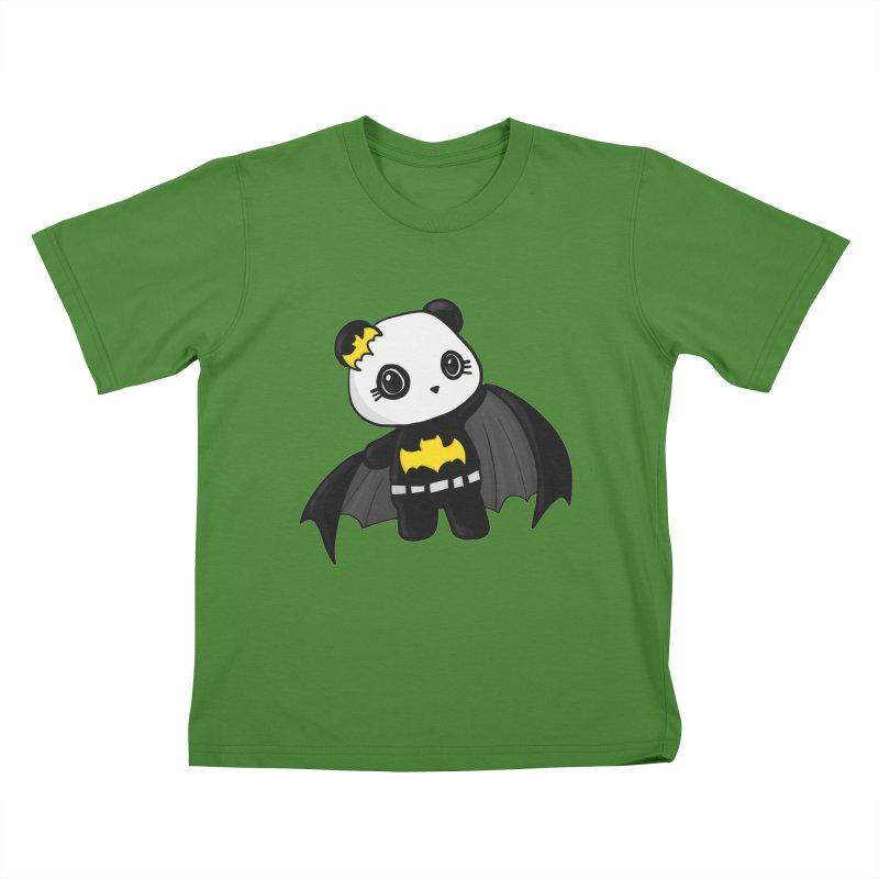 Batpanda Kids T-Shirt by Dino & Panda Inc Artist Shop