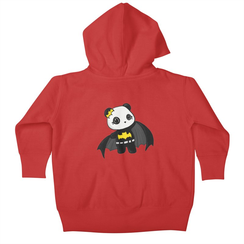 Batpanda Kids Baby Zip-Up Hoody by Dino & Panda Inc Artist Shop
