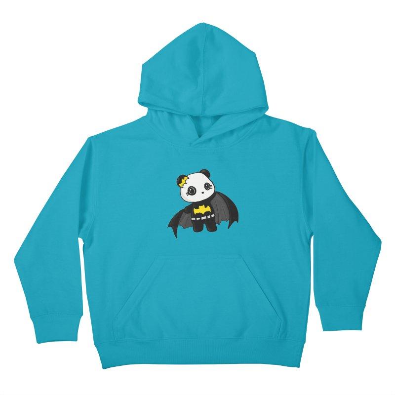Batpanda Kids Pullover Hoody by Dino & Panda Inc Artist Shop