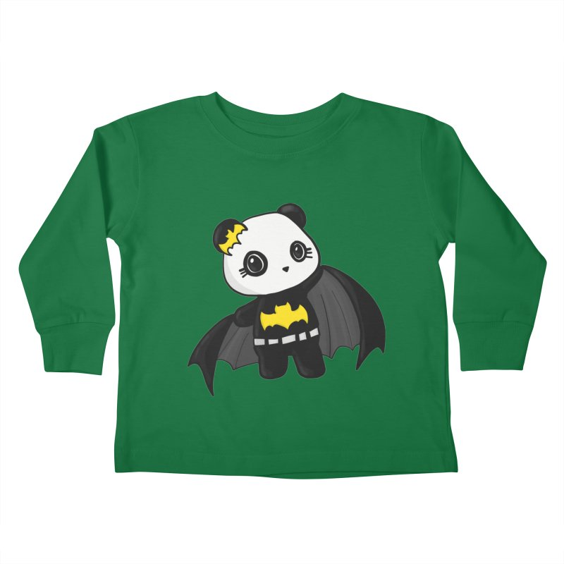 Batpanda Kids Toddler Longsleeve T-Shirt by Dino & Panda Inc Artist Shop