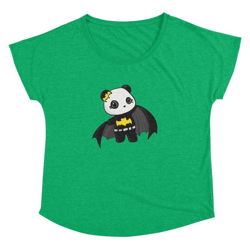 Batpanda Women's Dolman Scoop Neck by Dino & Panda Inc Artist Shop