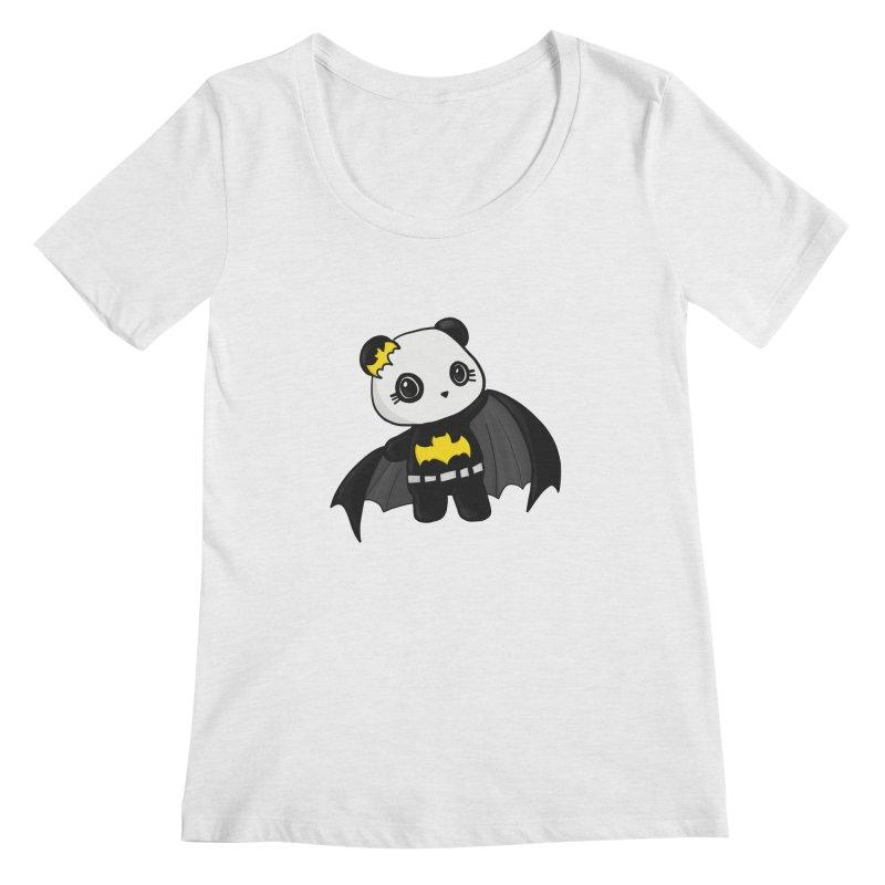 Batpanda Women's Scoop Neck by Dino & Panda Inc Artist Shop