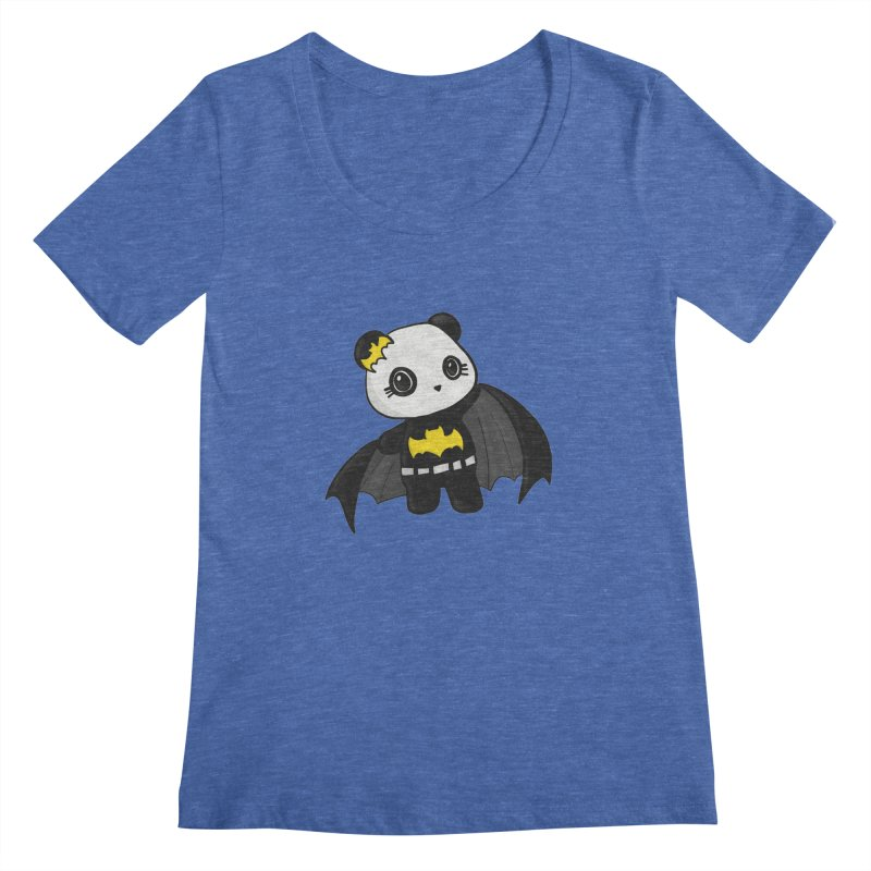 Batpanda Women's Regular Scoop Neck by Dino & Panda Inc Artist Shop