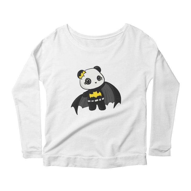 Batpanda Women's Scoop Neck Longsleeve T-Shirt by Dino & Panda Inc Artist Shop