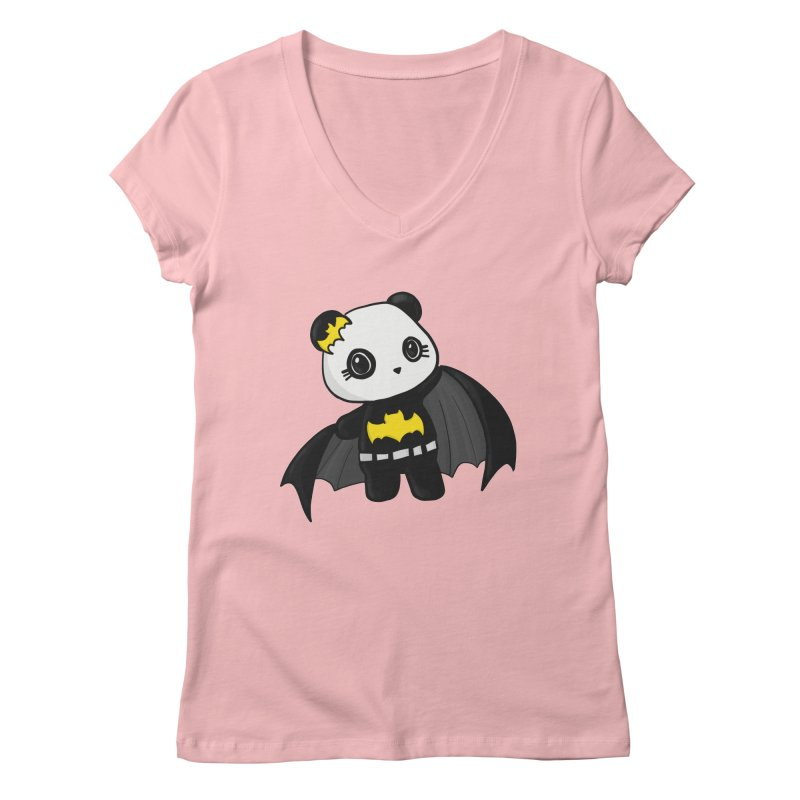 Batpanda Women's V-Neck by Dino & Panda Inc Artist Shop