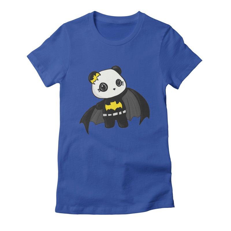 Batpanda Women's Fitted T-Shirt by Dino & Panda Inc Artist Shop