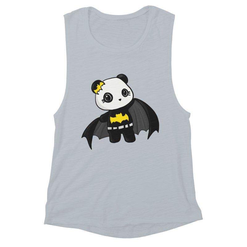 Batpanda Women's Muscle Tank by Dino & Panda Inc Artist Shop