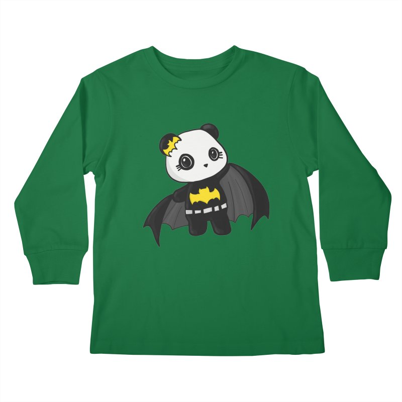 Batpanda Kids Longsleeve T-Shirt by Dino & Panda Inc Artist Shop