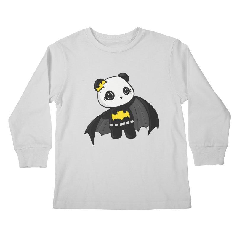 Batpanda Kids Longsleeve T-Shirt by Dino & Panda Inc Artist Shop