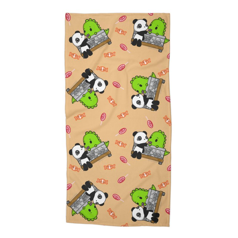 Sharing is Caring Accessories Beach Towel by Dino & Panda Artist Shop