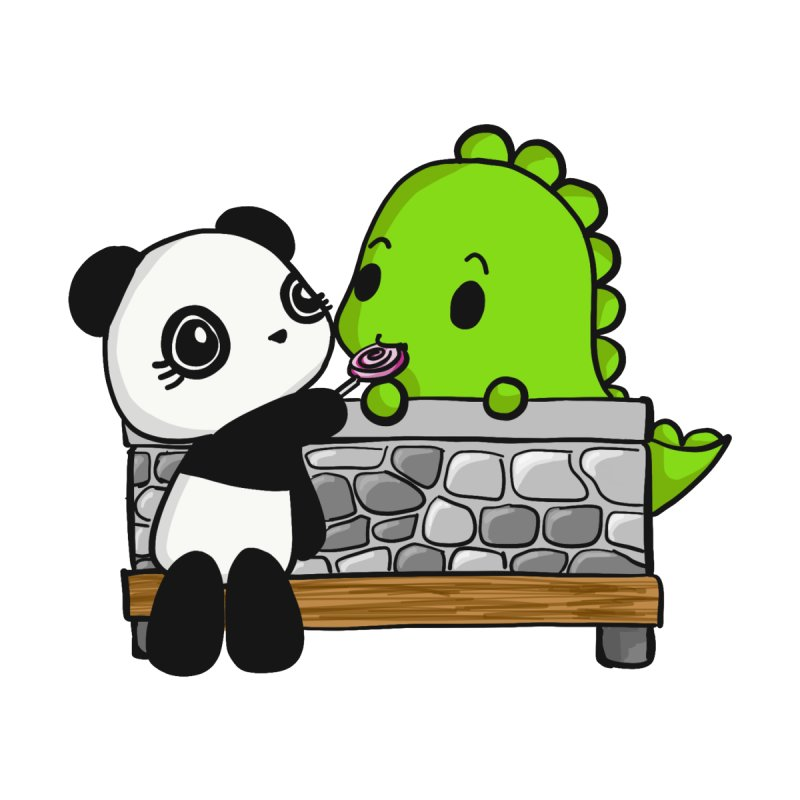 Sharing is Caring None  by Dino & Panda Inc Artist Shop