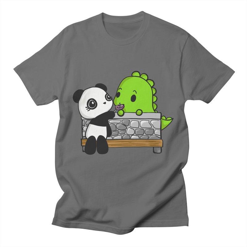 Sharing is Caring Men's T-Shirt by Dino & Panda Artist Shop