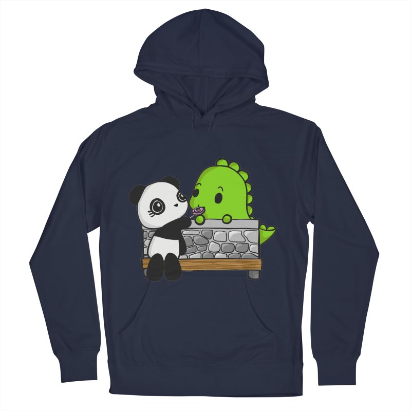 Sharing is Caring Women's French Terry Pullover Hoody by Dino & Panda Inc Artist Shop