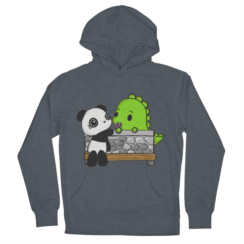 Sharing is Caring Men's French Terry Pullover Hoody by Dino & Panda Inc Artist Shop