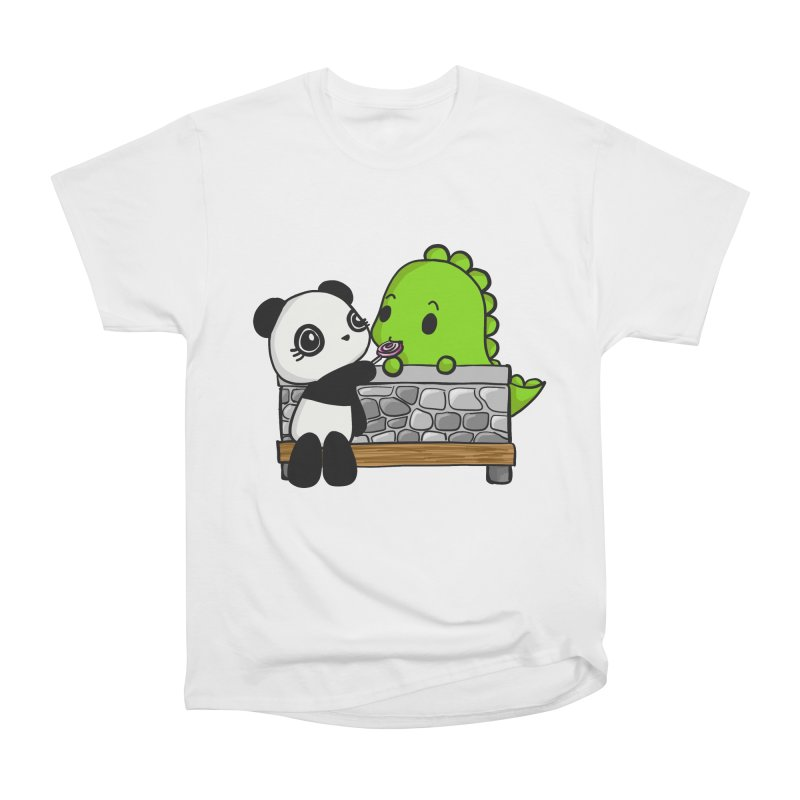 Sharing is Caring Men's Heavyweight T-Shirt by Dino & Panda Inc Artist Shop