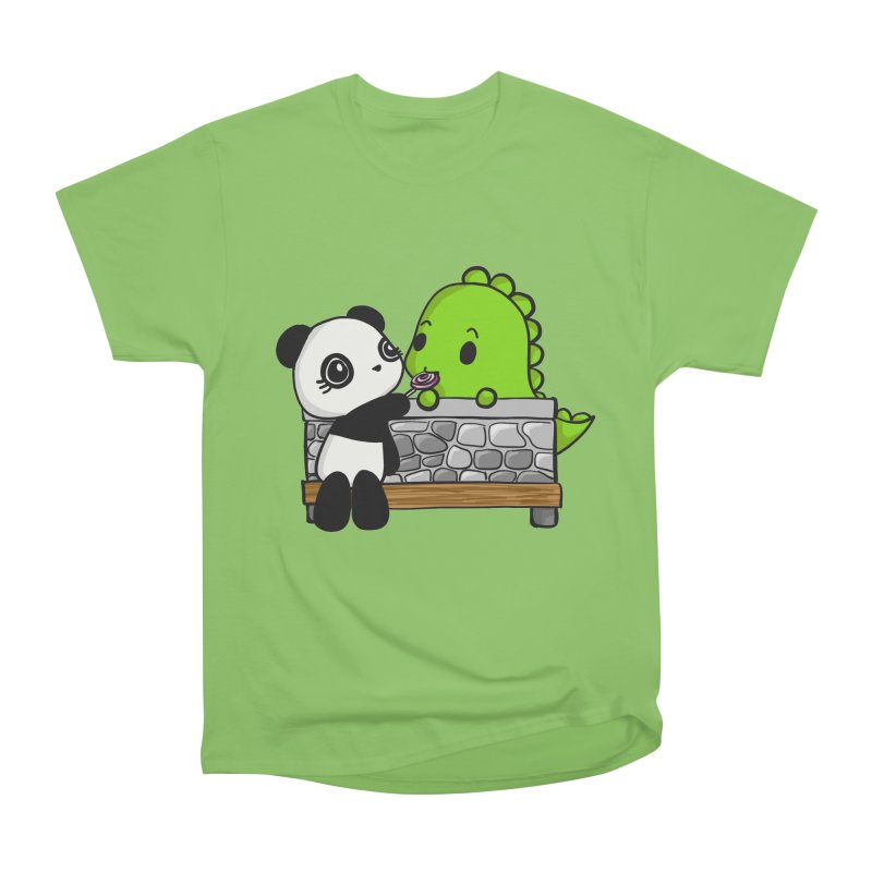 Sharing is Caring Men's Heavyweight T-Shirt by Dino & Panda Inc Artist Shop